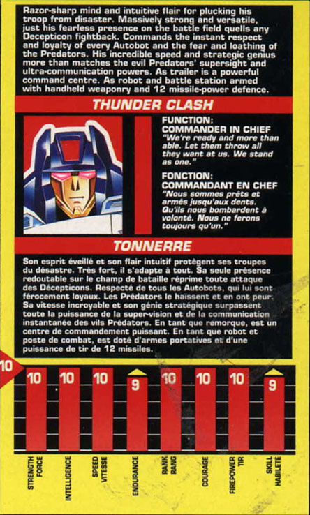 Transformers Tech Spec: Thunderclash