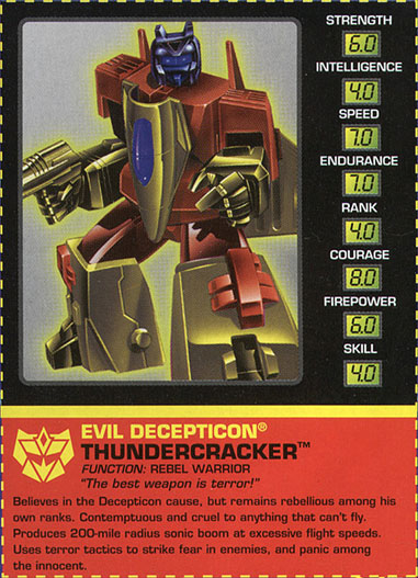 Transformers Tech Spec: Thundercracker