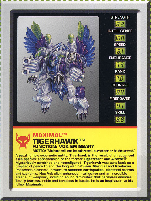 Transformers Tech Spec: Tigerhawk