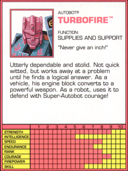 Transformers Tech Spec: Turbofire