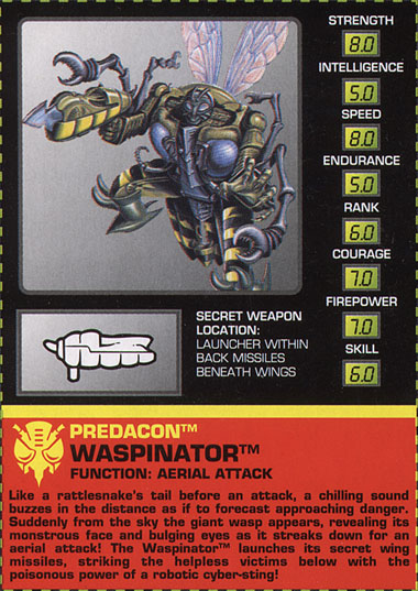 Transformers Tech Spec: Waspinator