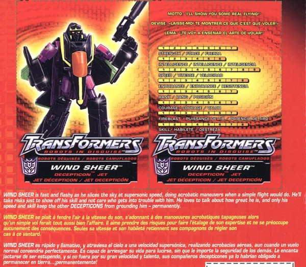 Transformers Tech Spec: Wind Sheer
