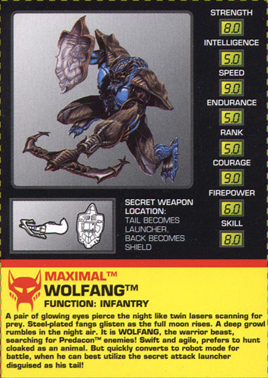 Transformers Tech Spec: Wolfang