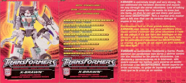 Transformers Tech Spec: Supercharged X-Brawn