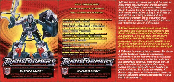Transformers Tech Spec: X-Brawn