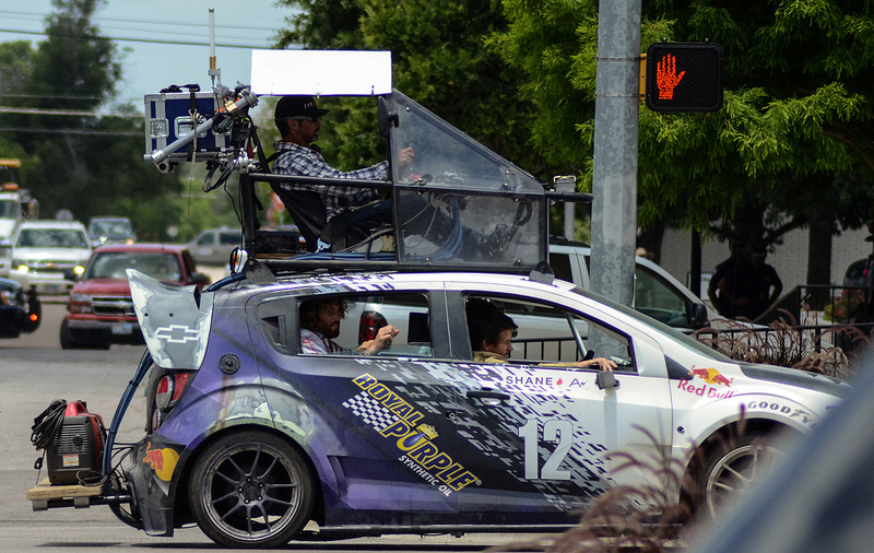 photos from the set of Transformers 4