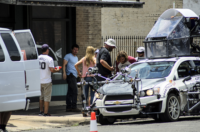 New photos from the set of Transformers 4